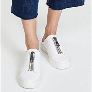 Frye Lena Zip Low leather sneaker